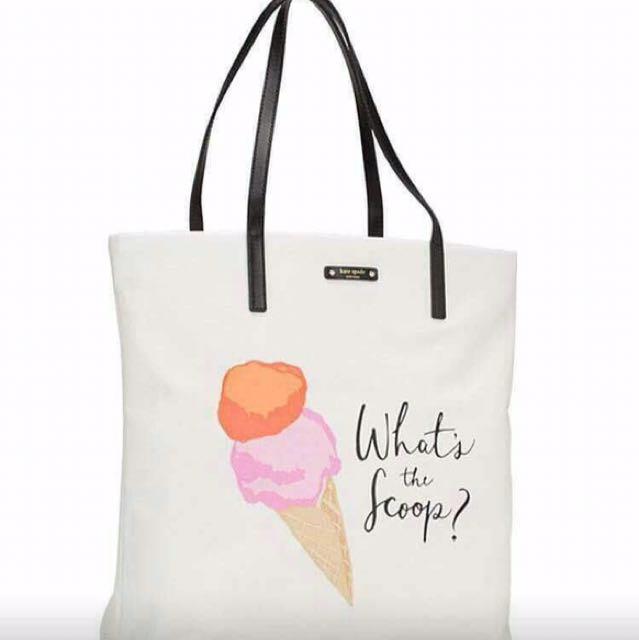 NEW 100% Ori Kate Spade Bon Shopper Ice Pop