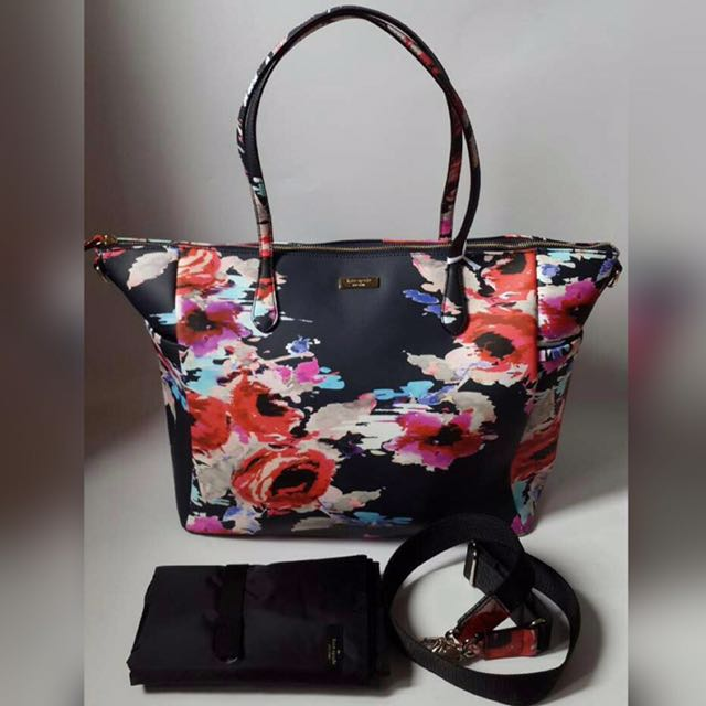 NEW 100% Ori Kate Spde Adaira Flower Zip Tote
