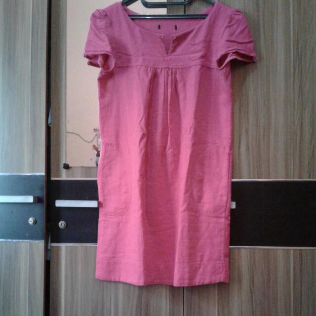 new atasan/dress hot pink