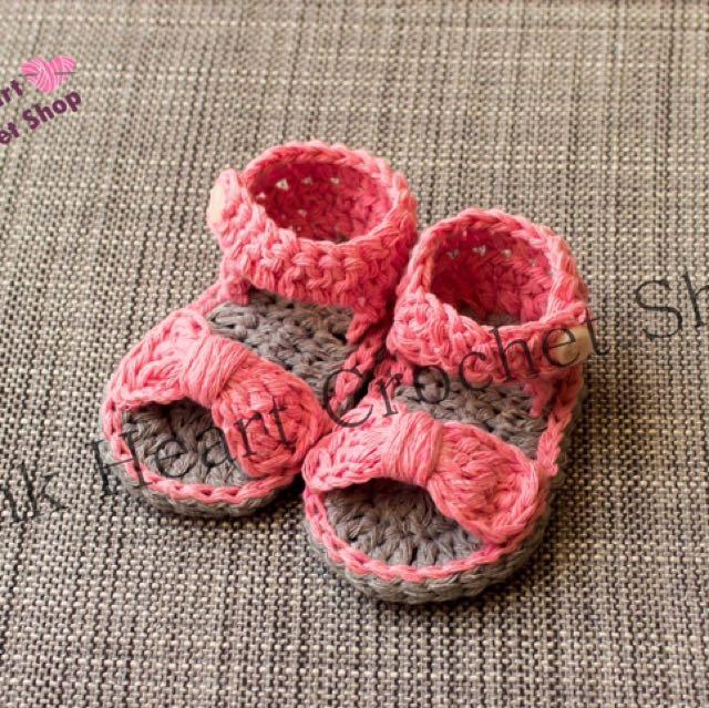 New Handmade Crochet Baby Sandals