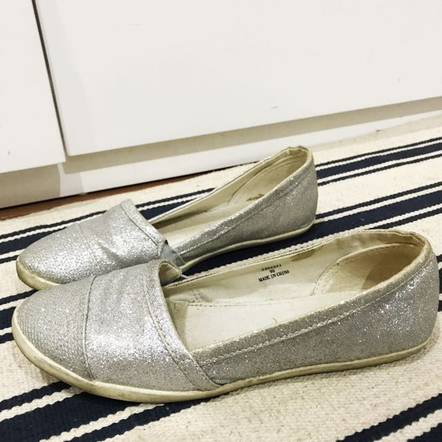 New Look Silver Glitter Shoes 39