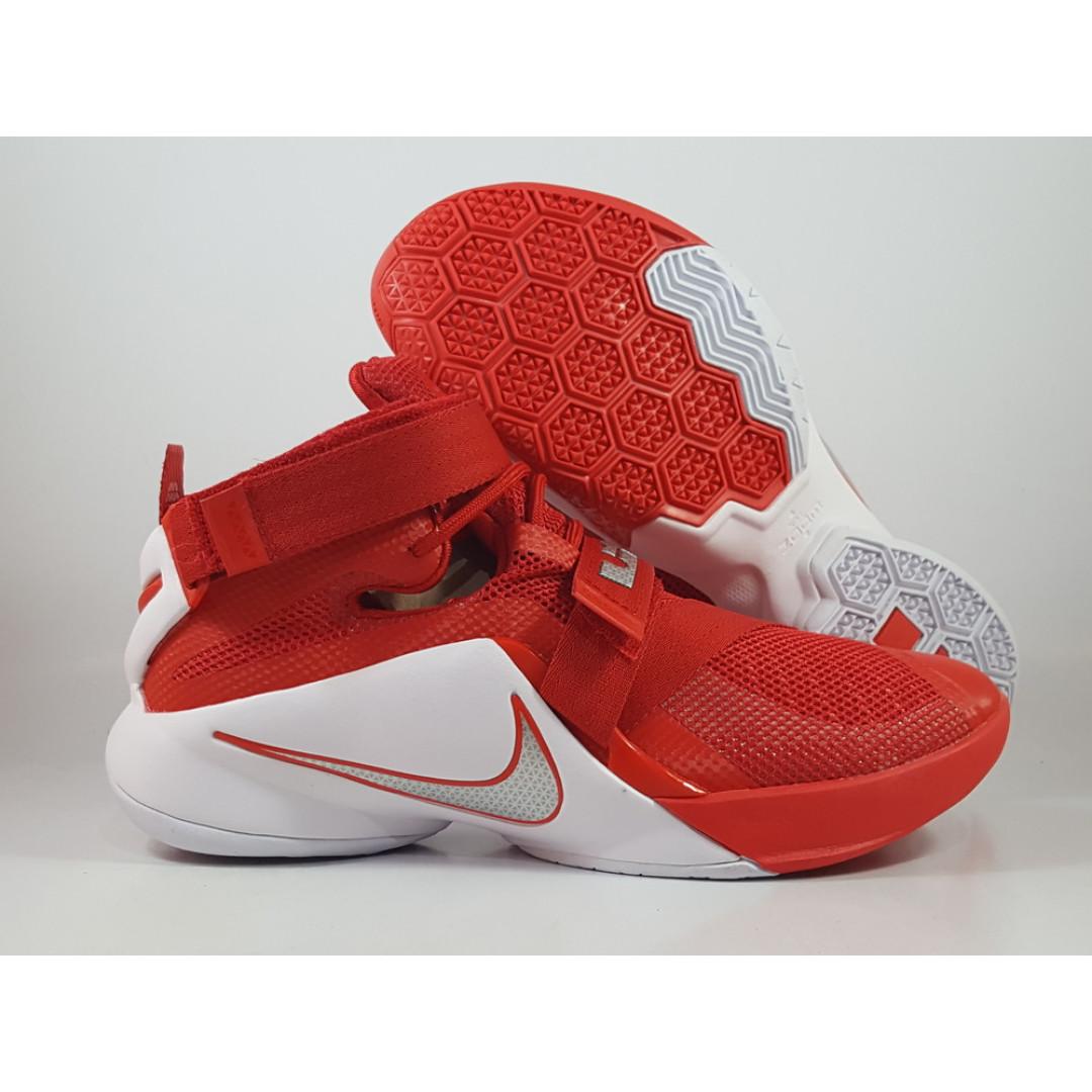 ba3763fecd7c9 Nike Lebron Soldier 9 OSU Crimson Red and White
