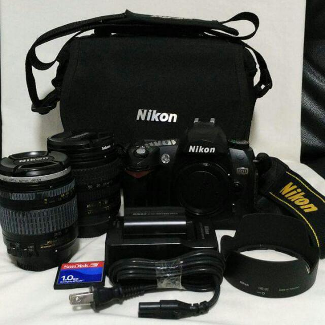 Nikon D70 DSLR Camera + Lenses