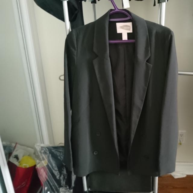 F21 Oversized Black Blazer (S)