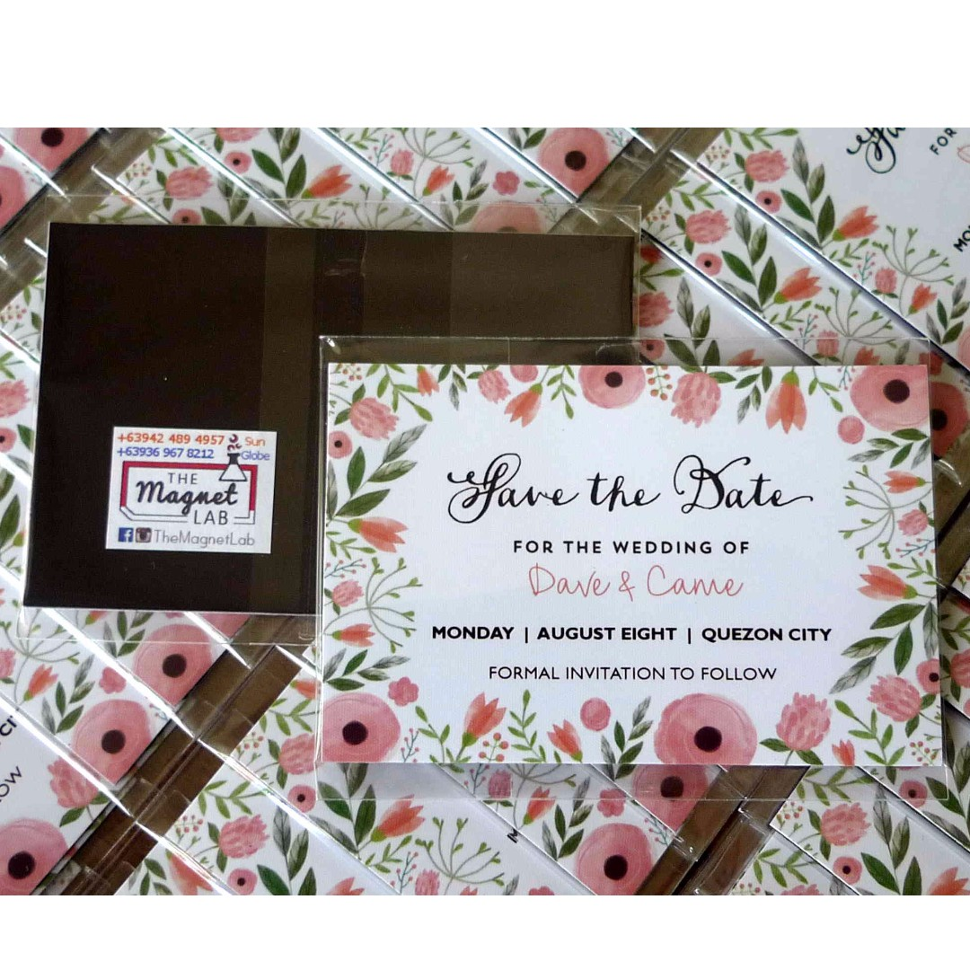 Personalized Ref Magnet Wedding Souvenirs (Quality Giveaways ...