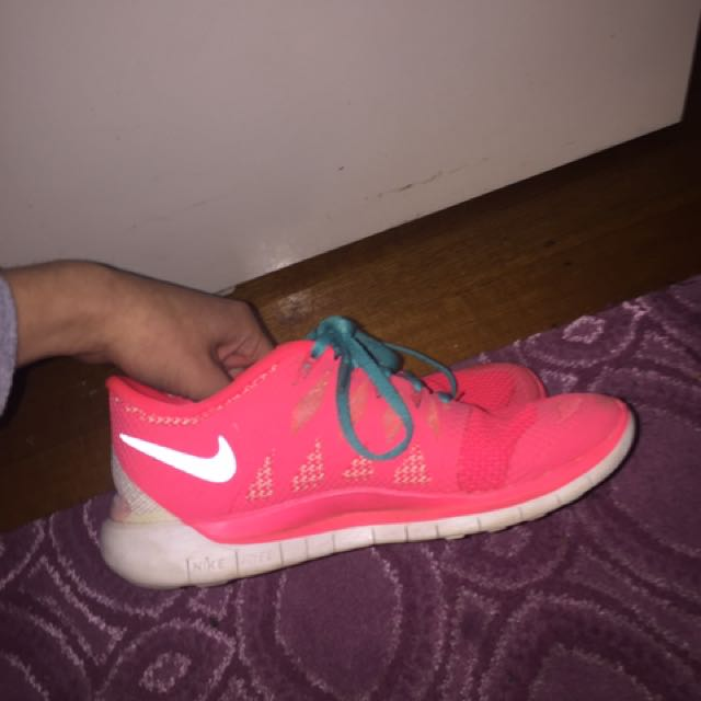 Pink And Blue Nike Free Runs