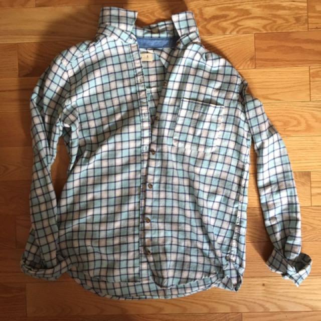 Plaid Button-up Shirt Vintage Style