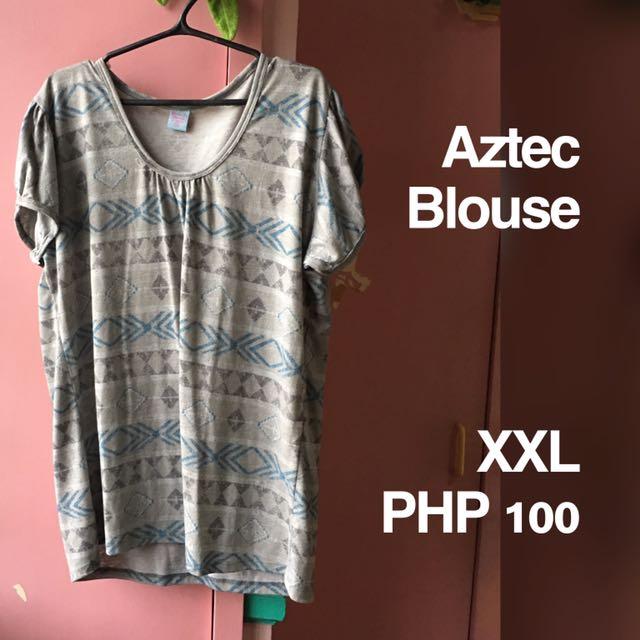 Plus Size Aztec Blouse
