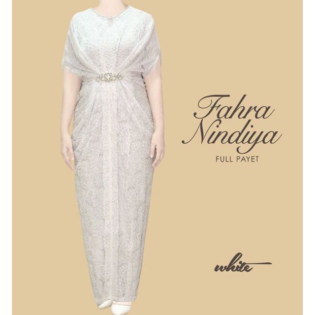 [preloved] Fahra Nindiya Full Payet In White