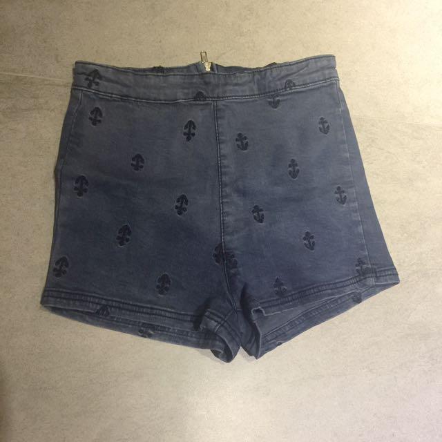 Queenshop 海軍風 短褲 (S)