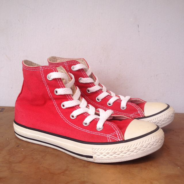RED CONVERSE CHUCK TAYLOR ALL STAR HIGH