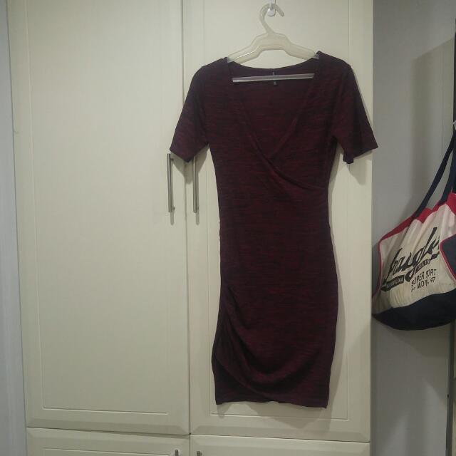 Red Knit Bodycon Dress