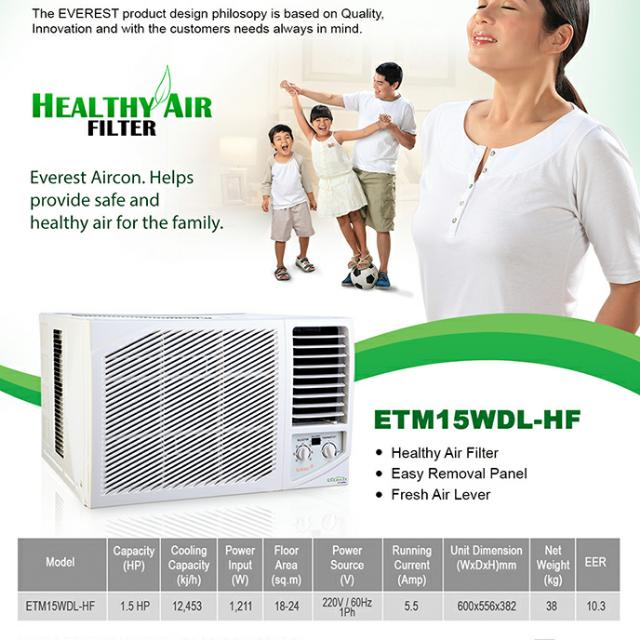 RUSH! BN:EVEREST WALL/WINDOW-TYPE AIR CONDITIONING