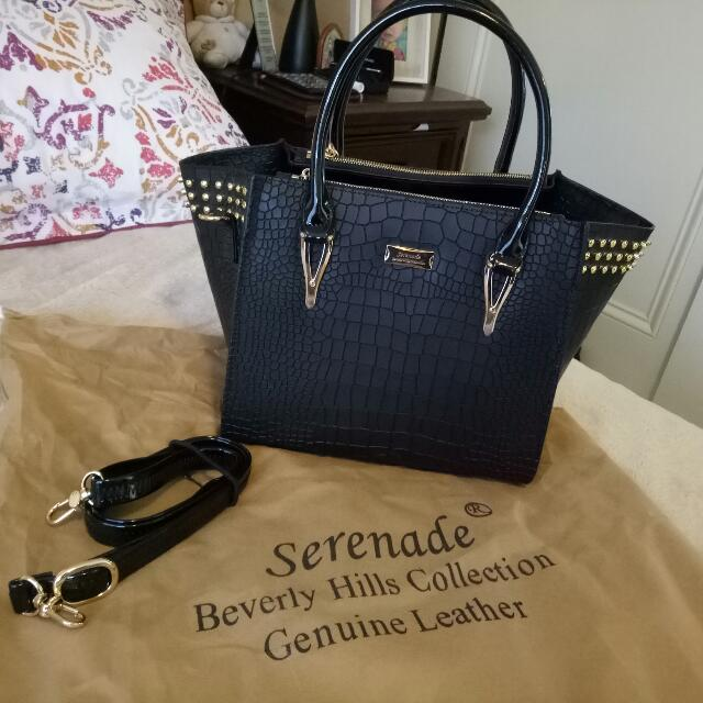 Serenade Beverly Hills Collection Genuine leather Handbag