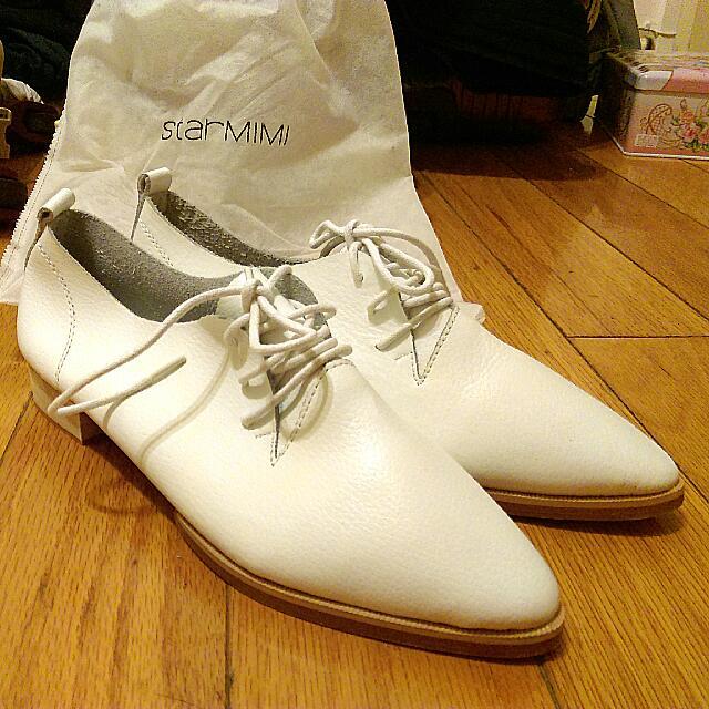【全新】starmimi 尖頭 白鞋 37號