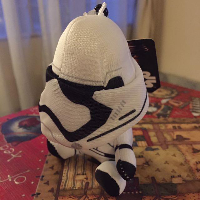 Storm Trooper Plush Keychain