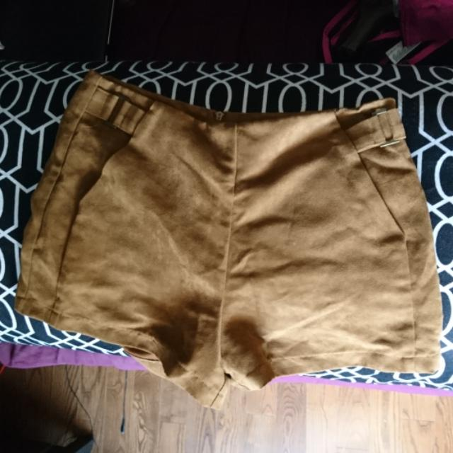 Suede Forever 21 High Waisted Shorts