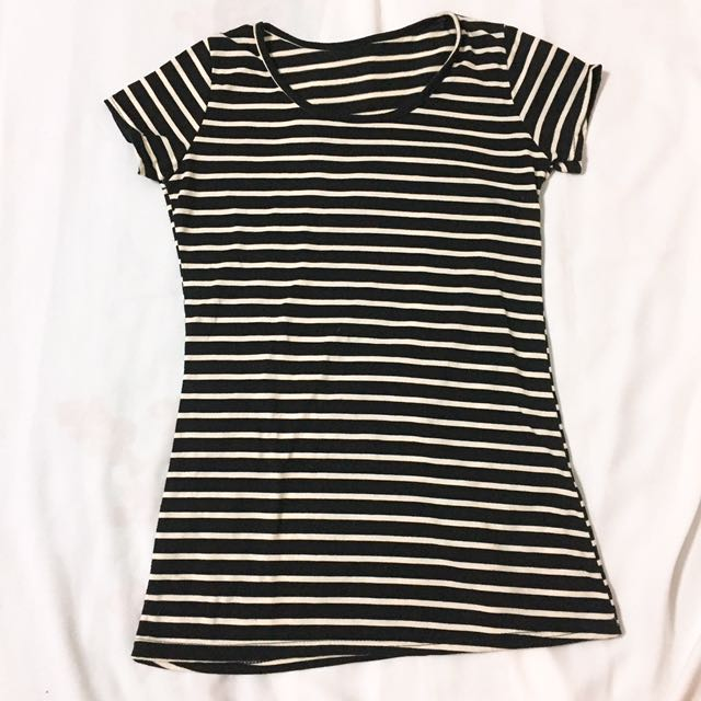 黑白條紋短袖T恤