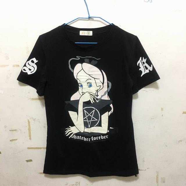 愛麗絲黑色T恤