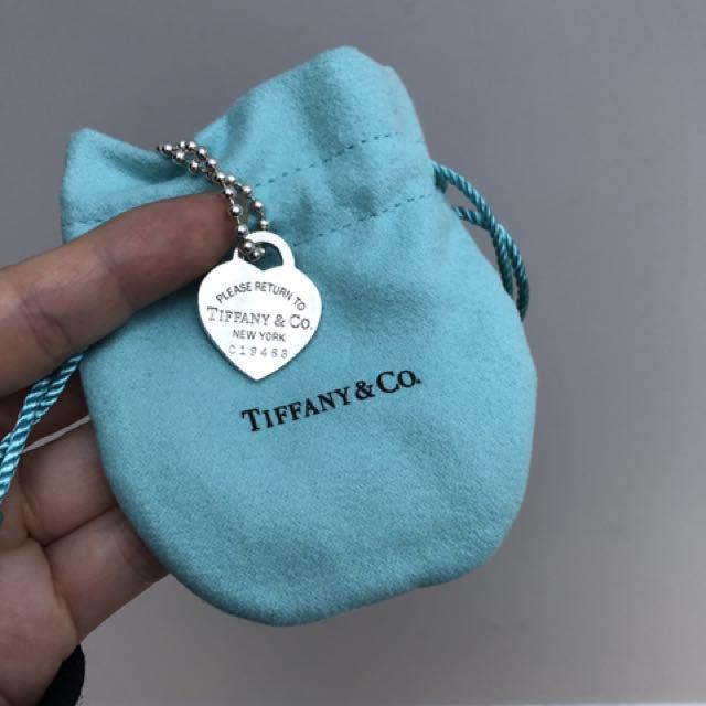 """Tiffany and Co. - """"RTT"""" Heart Necklace, 32"""""""