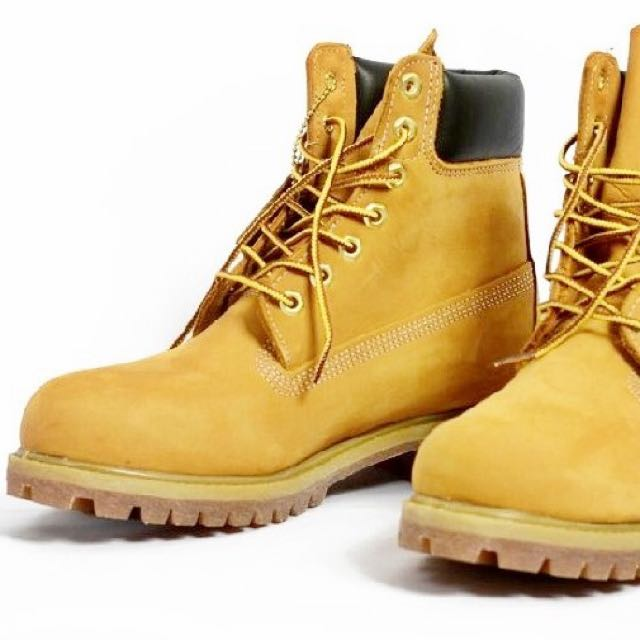 Timberland Original Yellow Boots, Men's Fashion, Footwear ...