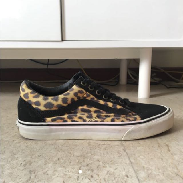 VANS Old Skool Leopard Print (AUTHENTIC) 0a57133a9cfe