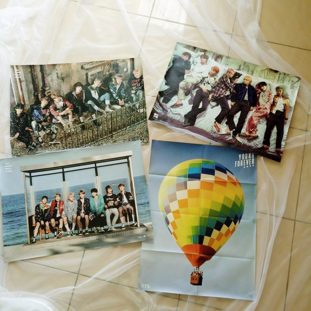 WTS BTS COLLECTION - posters, albums // YNWA, WINGS, Dark and Wild, Young Forever