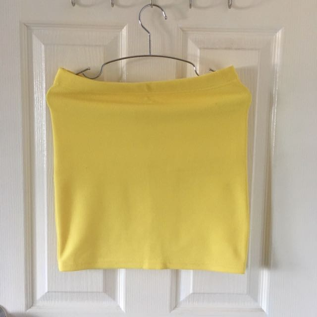 Yellow Forever 21 Pencil Skirt