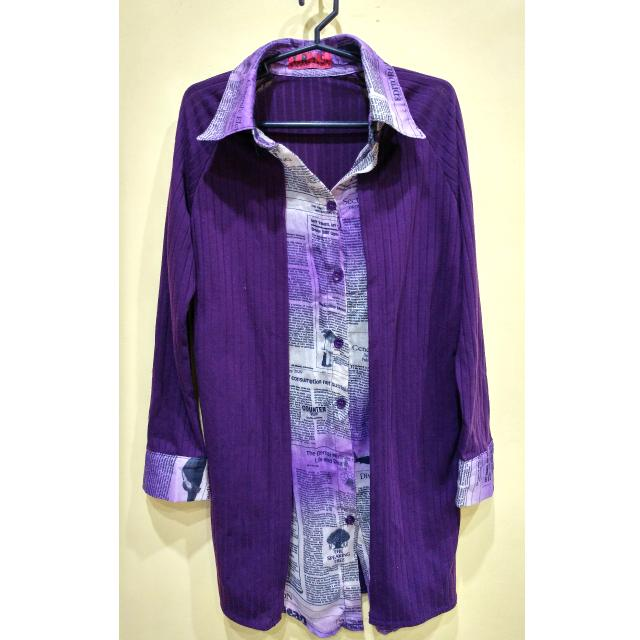 Y.R.Y.S Long Purple Semi Formal Top ❤