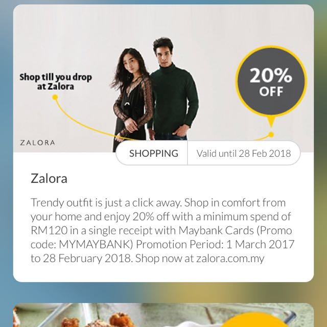 Zalora Maybank Discount Code Tickets Vouchers Gift Cards Vouchers On Carousell