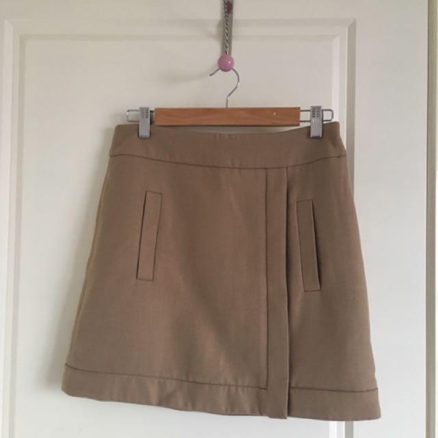 Zara Basic Brown Mini Skirt-size S