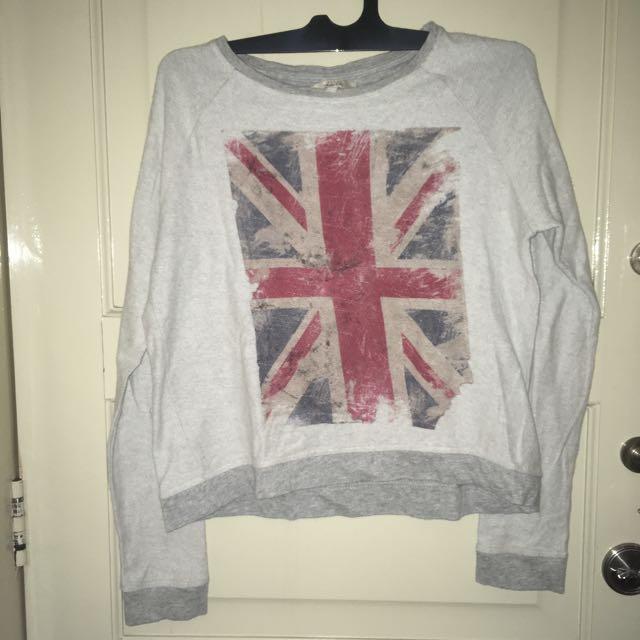 Zara Union Jack Sweater