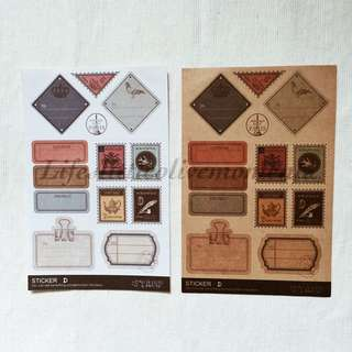 Vintage Scrapbook Mail Stickers