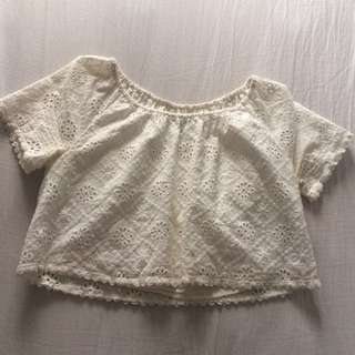 Forever 21 Crop Top (can Be Worn As Off-the-shoulder)