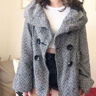 Black And White Winter Coat