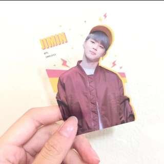 BTS Jimin Fansite Transparent Photocard