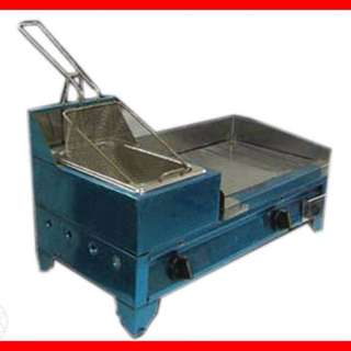 Burger Griddle with Deep Fryer and Accessories