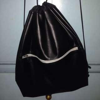 leather drawstring bag ( unisex)