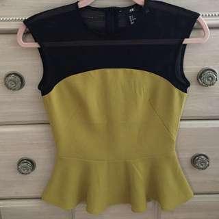 Mustard & Black Peblum Shirt