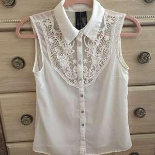 White Vintage Blouse