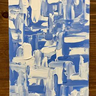 Abstract Blue And White