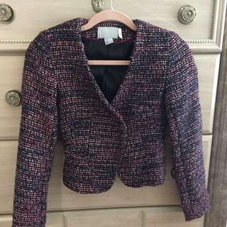 Purple & Pink Tweed Blazer