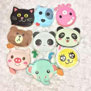Cute Animals Wallet Panda , Fish , Dog , Cat , Octopus , Bear , Elephant , Dolphin , Owl , Frog , Rabbit Wallet