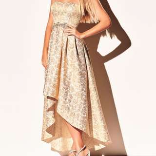 Melanie Lyne Formal Gold Dress