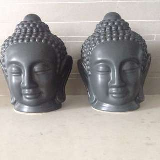 2x Buddha Heads From Artemano