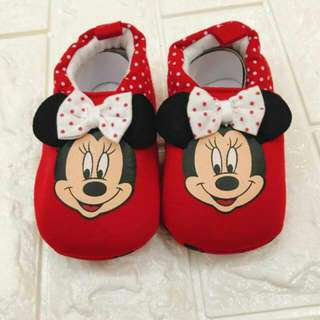 Minnies Mouse Baby Shoes