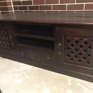 Bali Style Solid Timber TV Cabinet