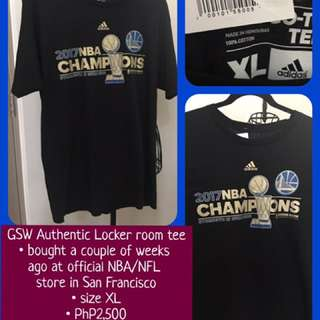 Golden State Warriors Authentic Locker room & Authentic NBA Store Shirts