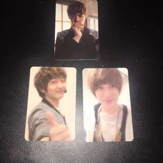 Taemin and Onew photocards