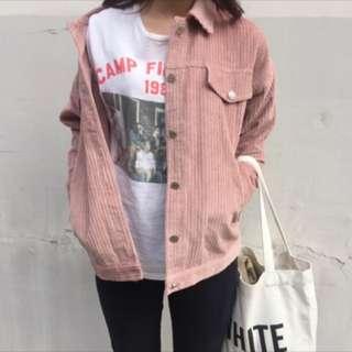 Dusty Pink Corduroy Jacket